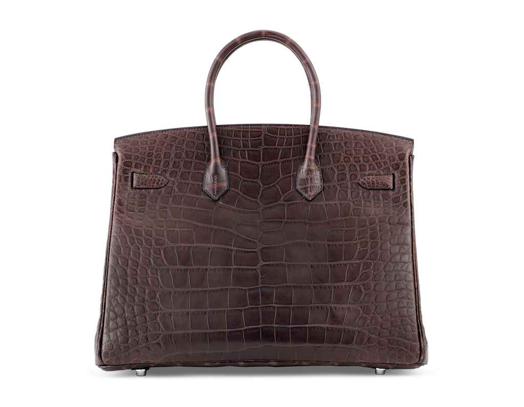 SAC BIRKIN 35 EN ALLIGATOR MAT
