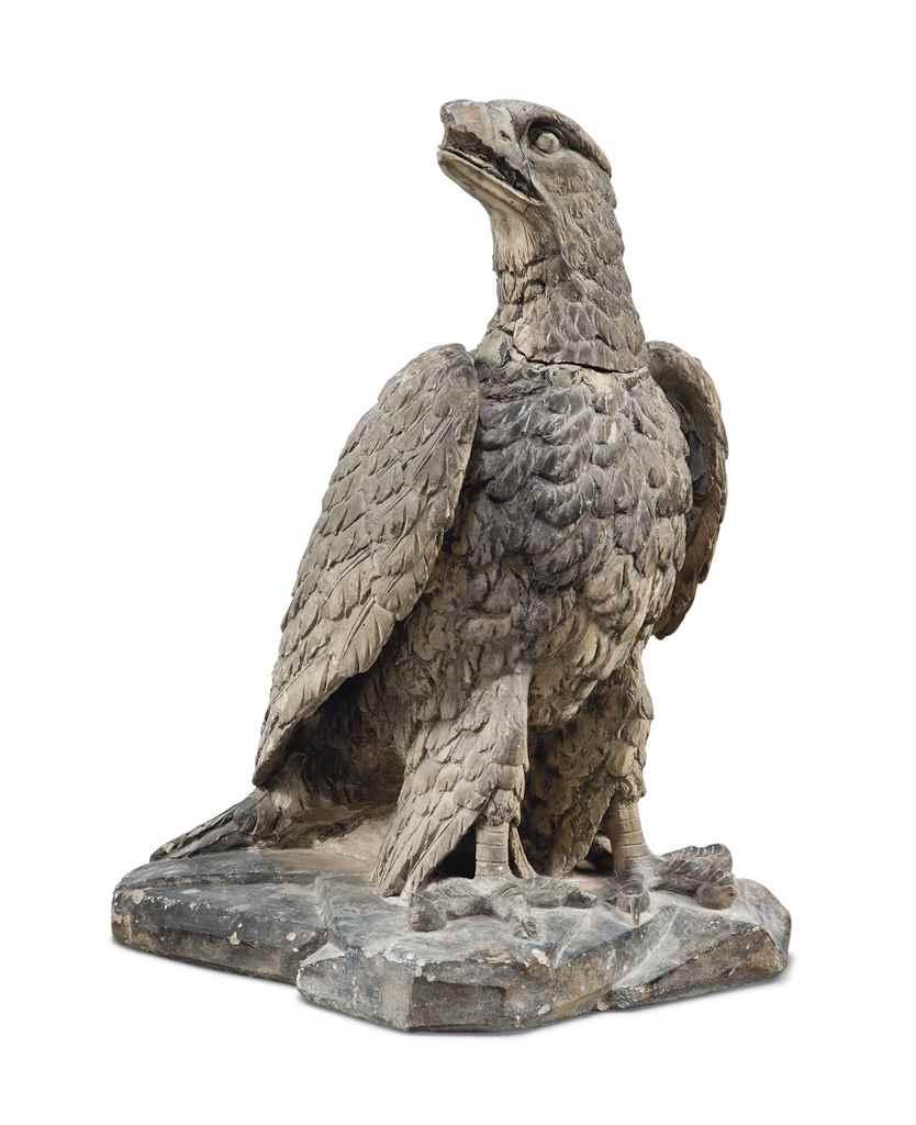 A COADE STONE MODEL OF A HAWK