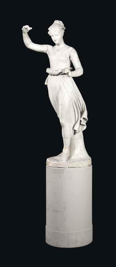 A PLASTER FIGURE OF HEBE
