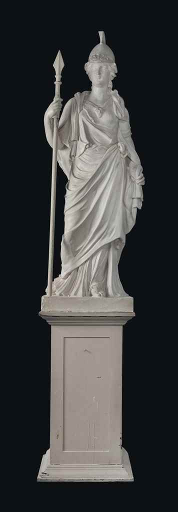 A PLASTER FIGURE OF MINERVA