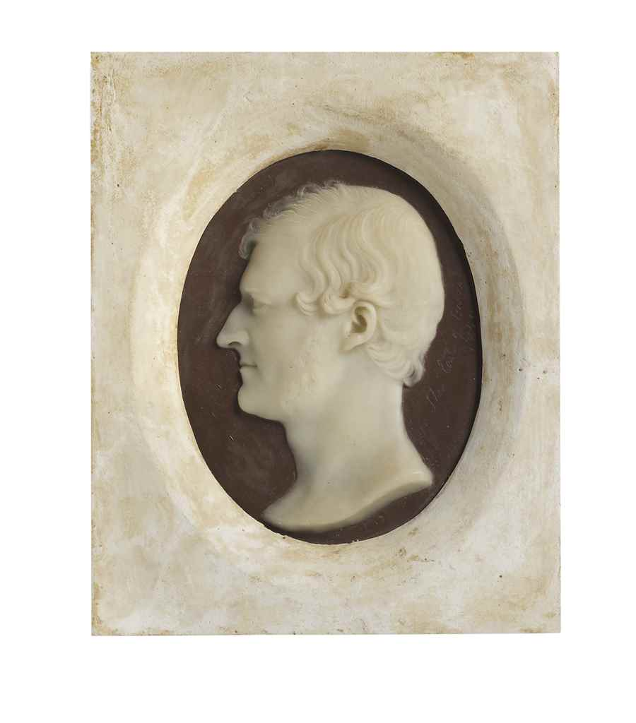 FIVE WAX PORTRAIT RELIEFS