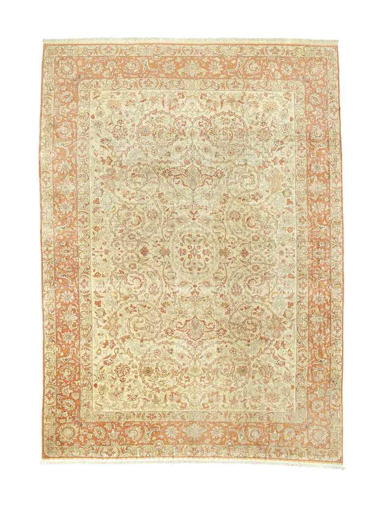 A FINE SILK HEREKE CARPET
