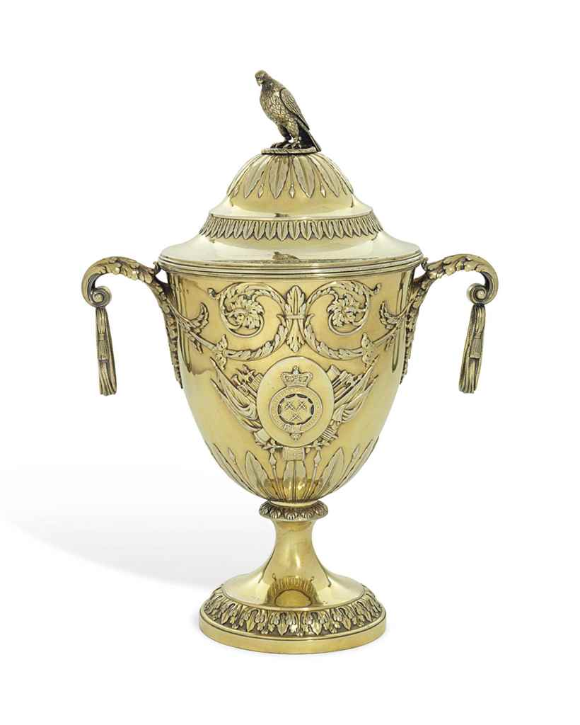 A GEORGE III SILVER-GILT CUP A