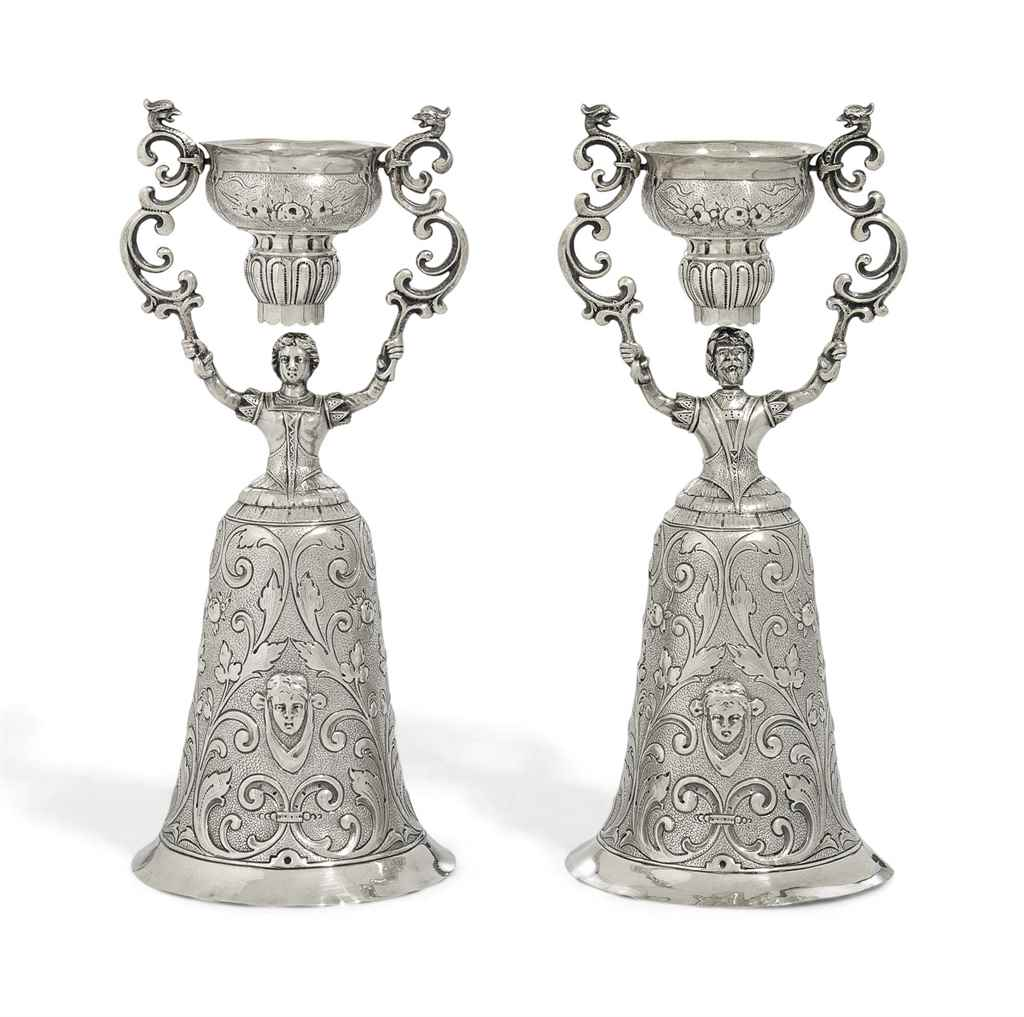 A PAIR OF GERMAN SILVER WAGER
