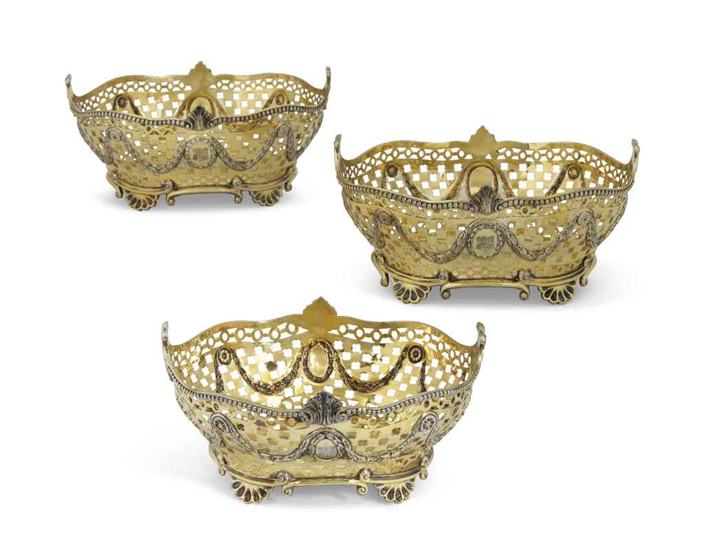 A SET OF THREE VICTORIAN SILVE
