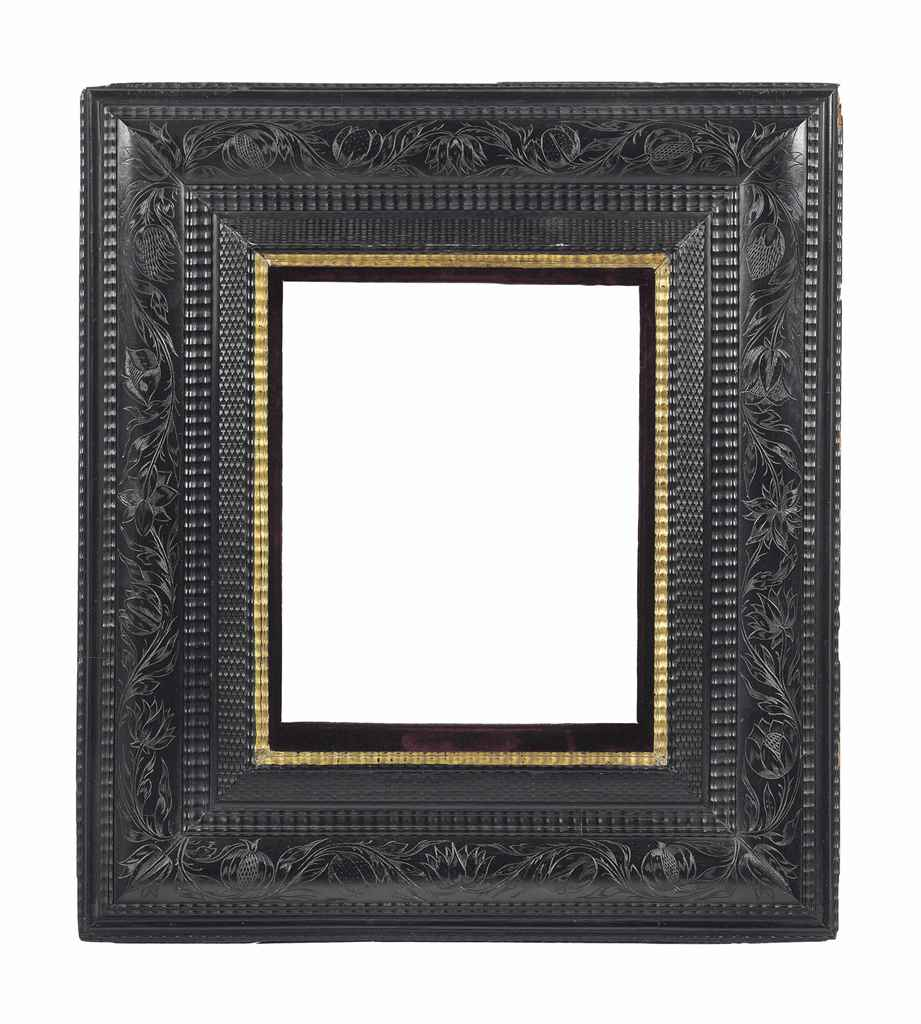 A DUTCH EBONISED WOOD FRAME