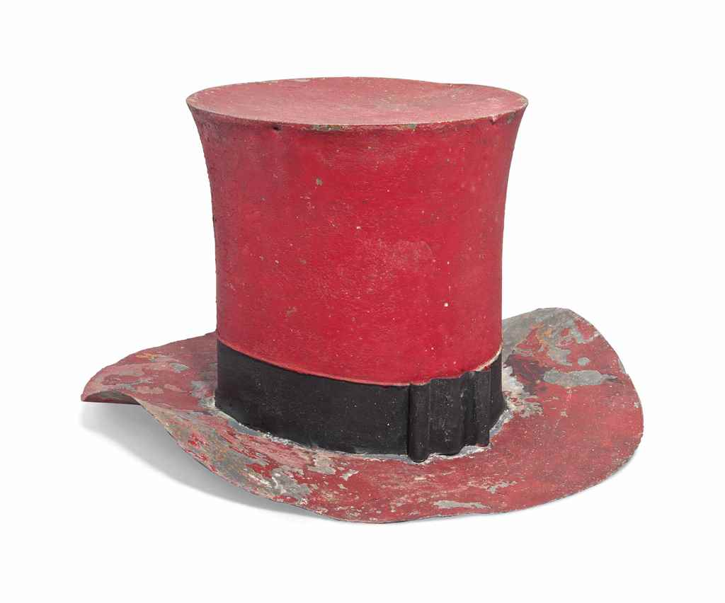 A FRENCH TOLE-WARE HATTER'S SI