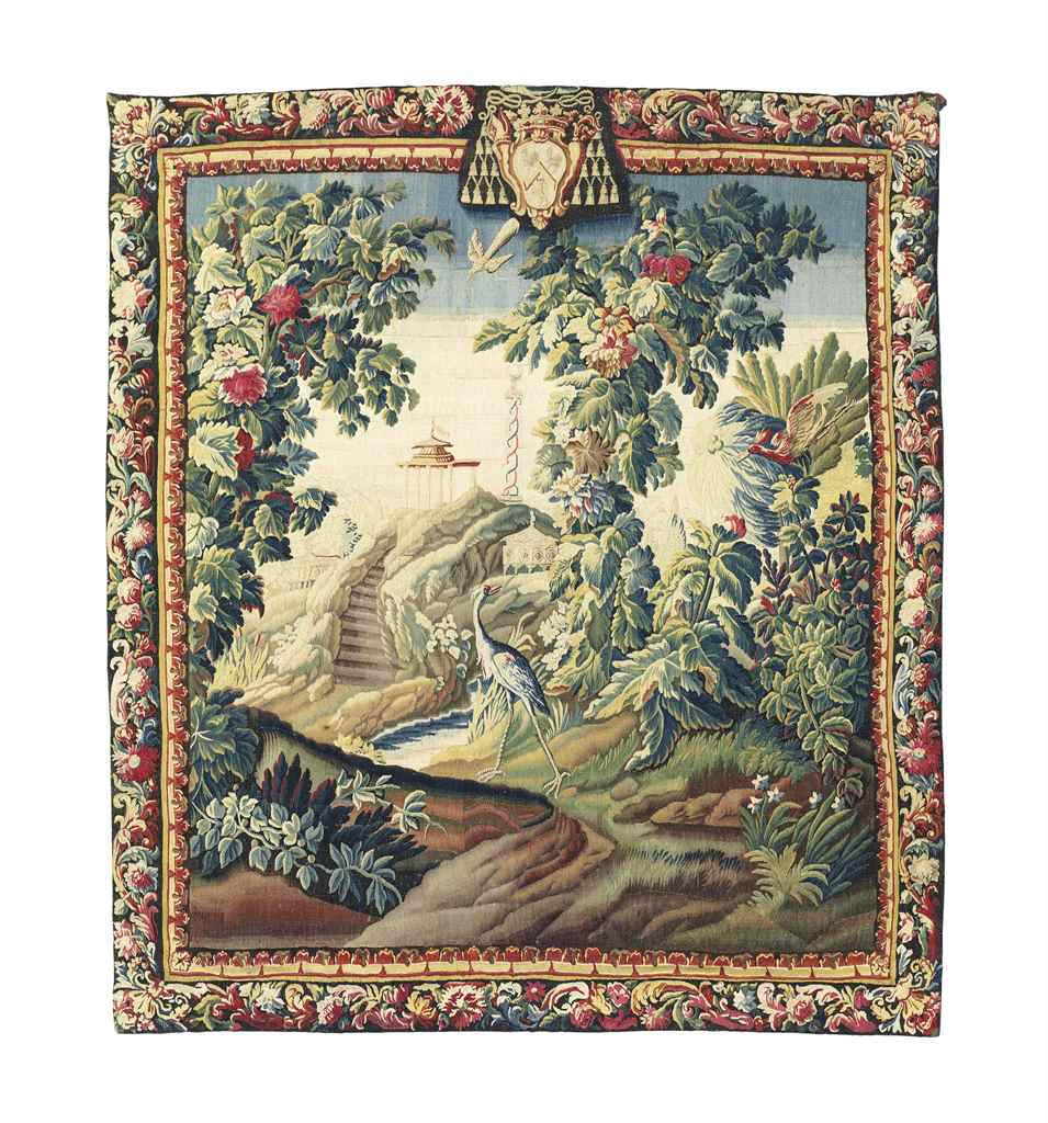 A FLEMISH VERDURE TAPESTRY WIT