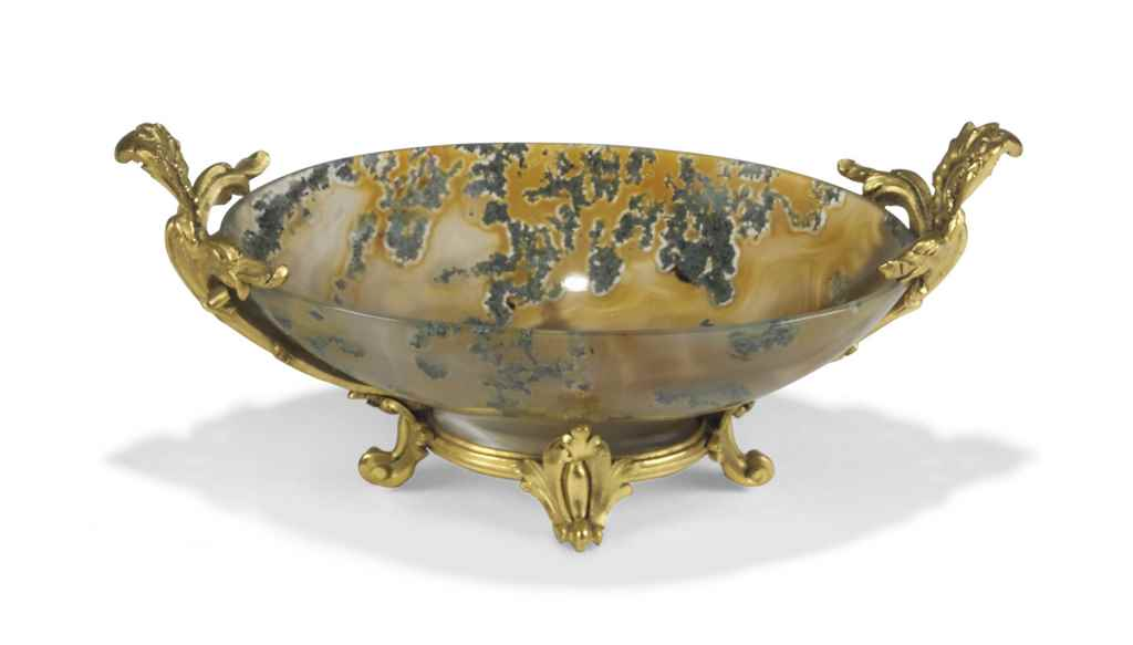A LOUIS XV ORMOLU-MOUNTED MOSS