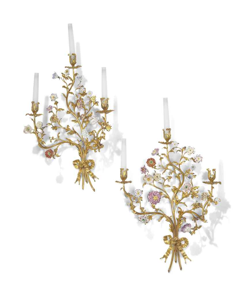 A PAIR OF LOUIS XV ORMOLU AND
