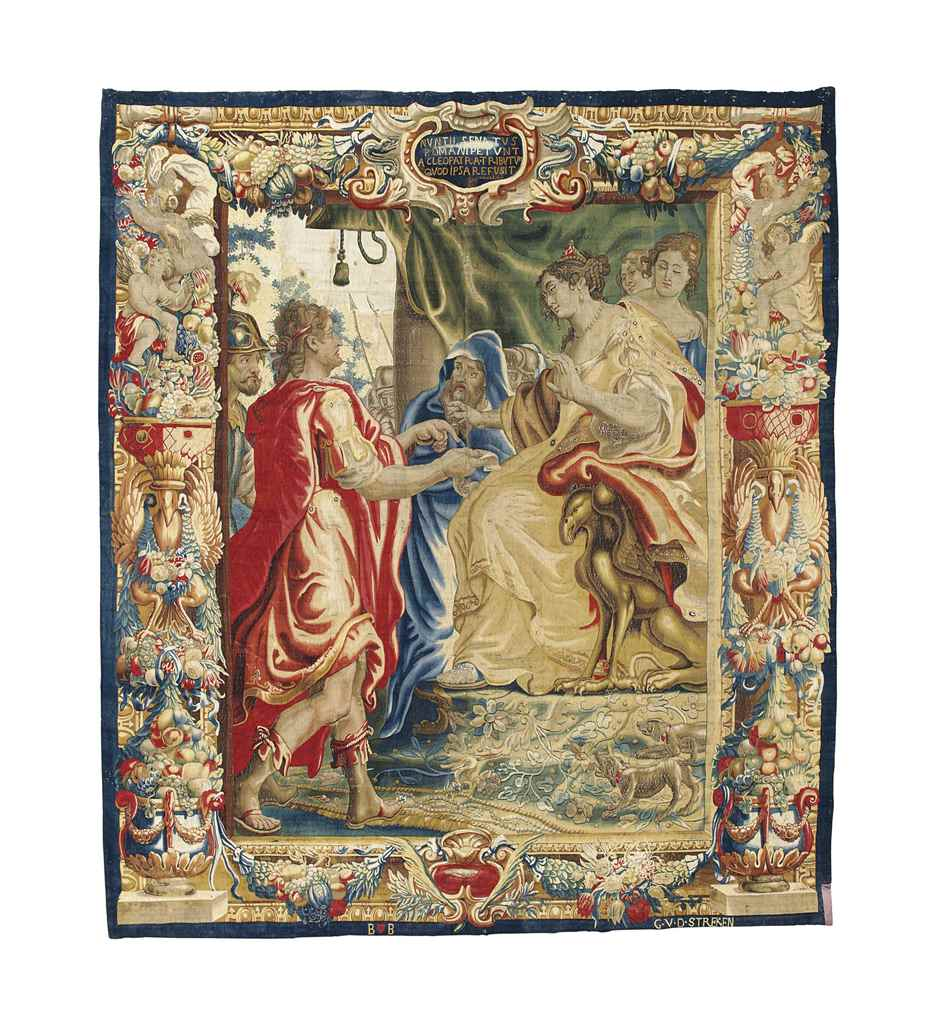 A FLEMISH HISTORICAL TAPESTRY