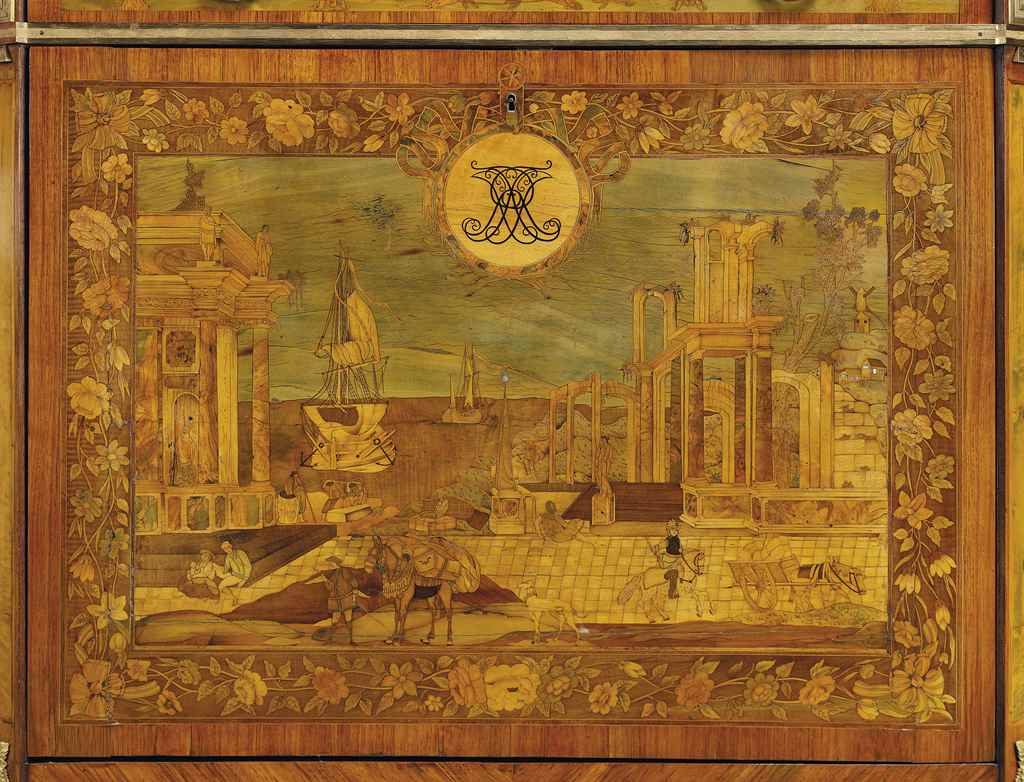 A LOUIS XVI ORMOLU-MOUNTED TUL