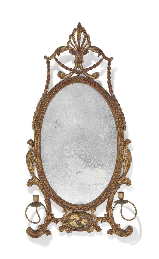 A CHINESE EXPORT GILTWOOD AND