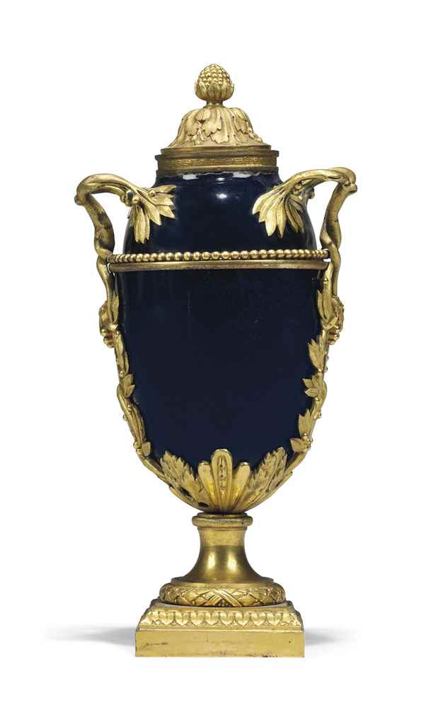 A LOUIS XVI ORMOLU-MOUNTED BLU