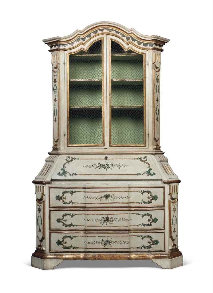AN ITALIAN PARCEL-GILT, CREAM