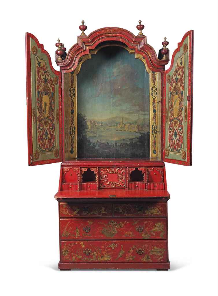 AN ITALIAN PARCEL-GILT, RED AN