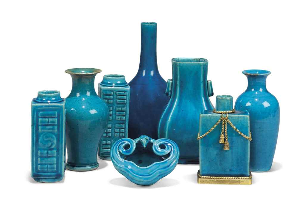 A GROUP OF TEN CHINESE TURQUOI