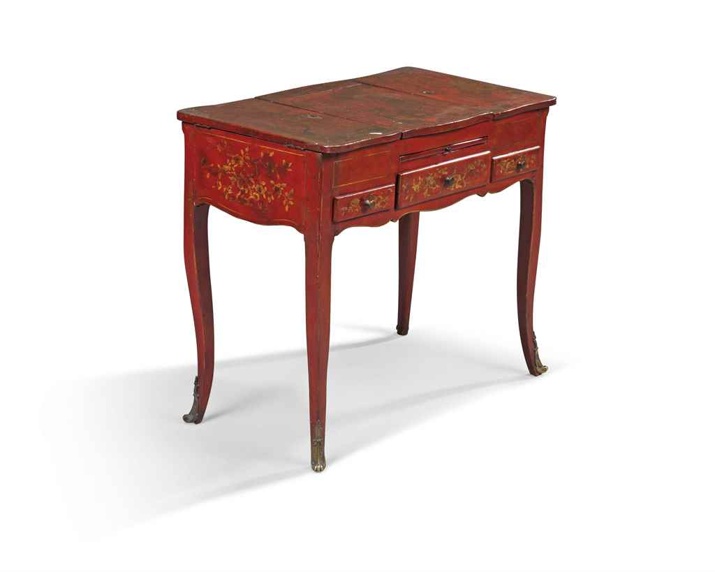 A LOUIS XV RED AND GILT JAPANN