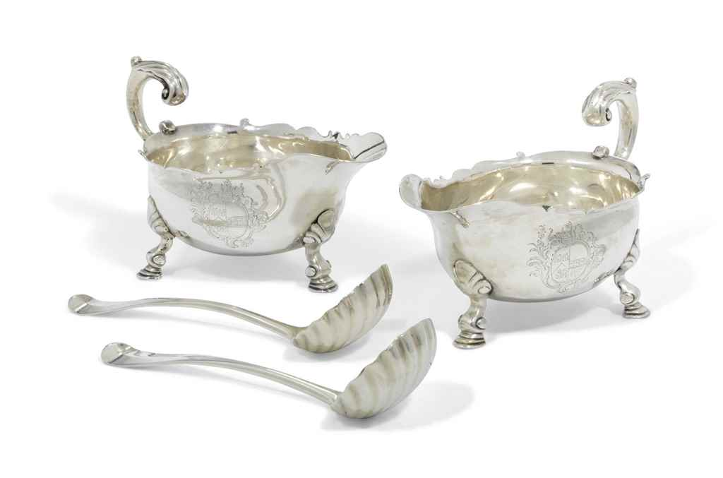 A GEORGE III PAIR OF SILVER SA