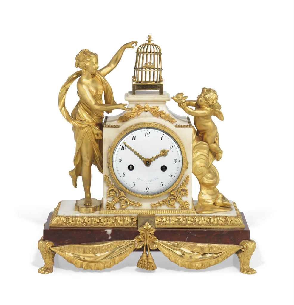 A LATE LOUIS XVI ORMOLU, ROUGE
