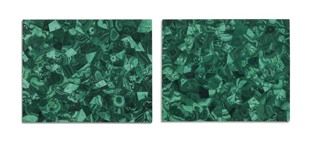 A PAIR OF MALACHITE-VENEERED M