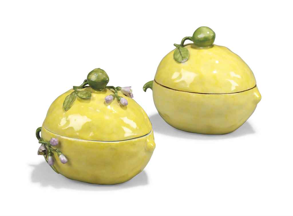TWO MEISSEN LEMON BOXES AND CO