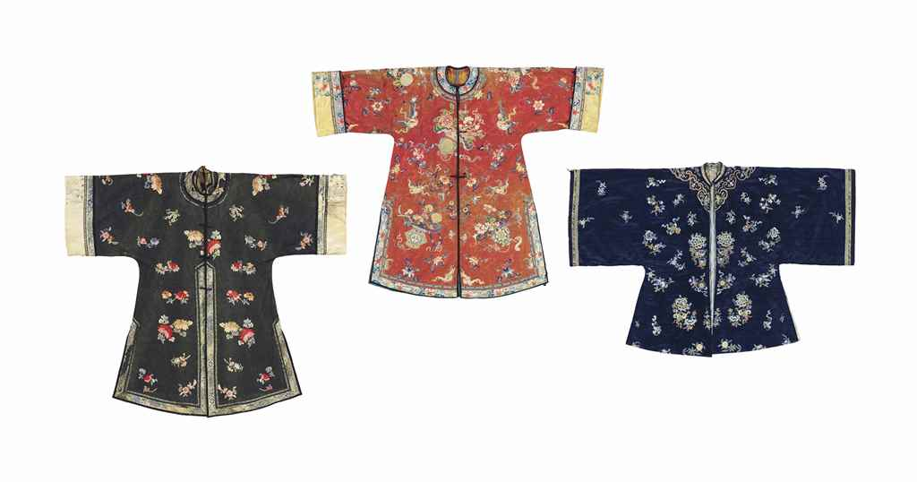 THREE LADY'S INFORMAL ROBES