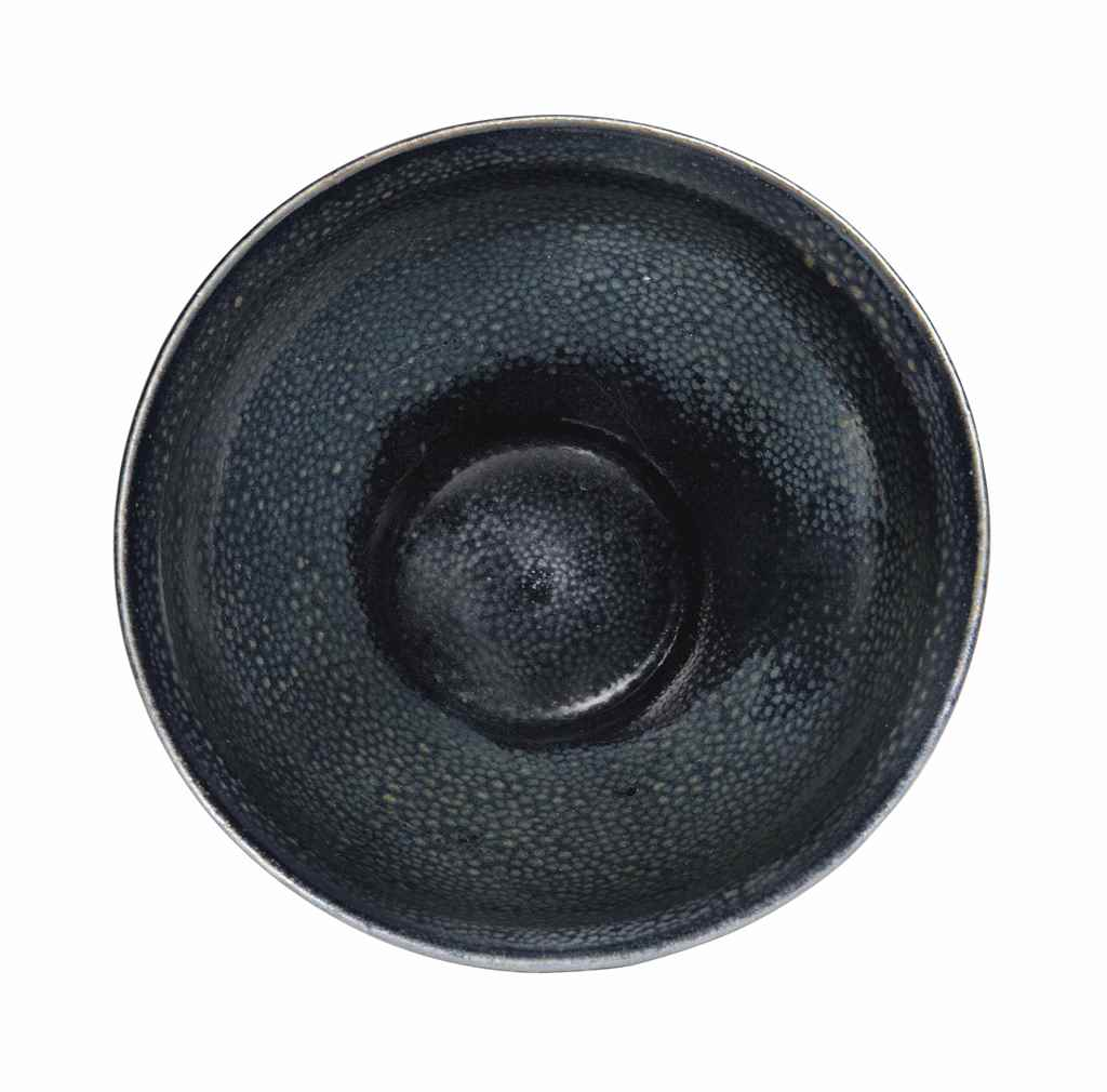A BLACK-GLAZED 'OIL SPOT' BOWL