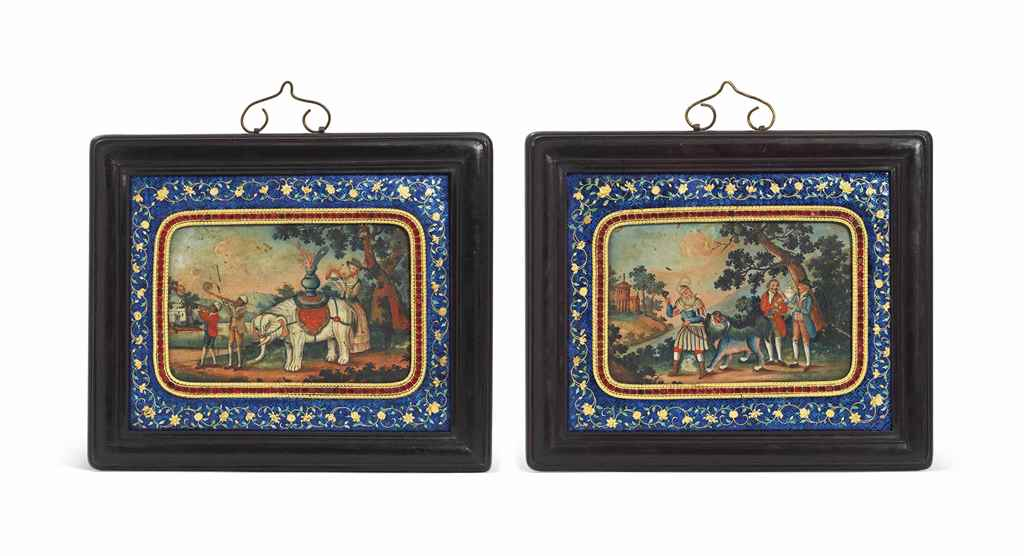 A PAIR OF FRAMED 'TRIBUTE' PAI