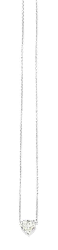 A DIAMOND SINGLE STONE NECKLAC