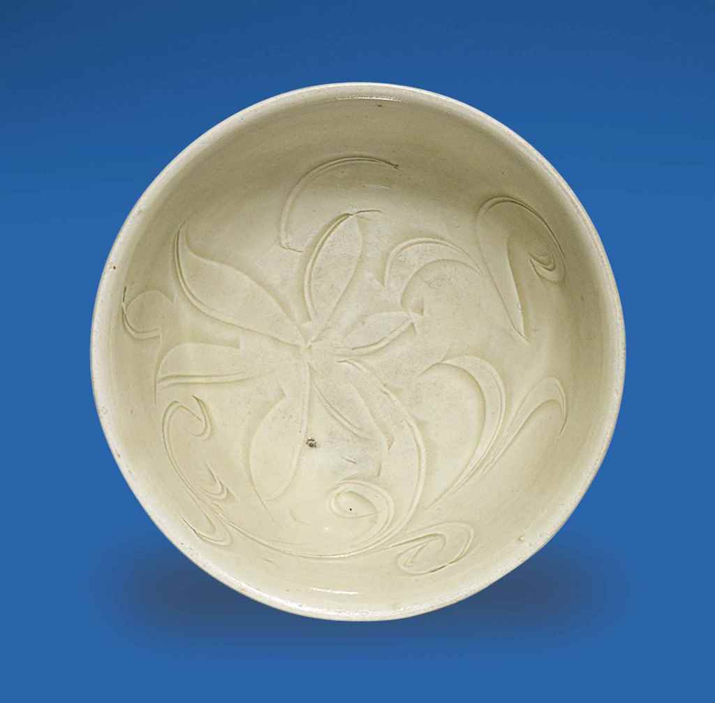 A SMALL CARVED DING BOWL