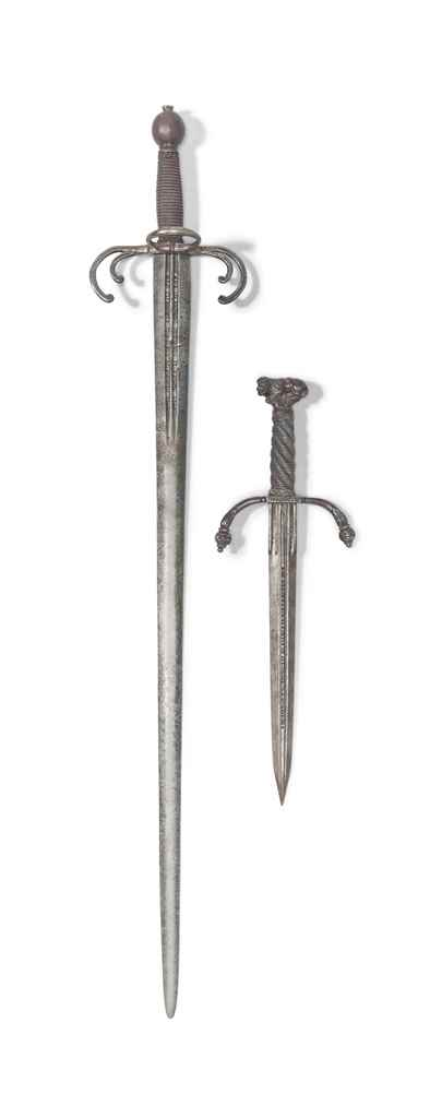 A QUILLON DAGGER AND 'CRAB CLA