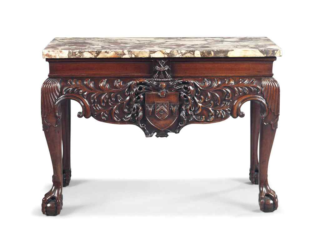 AN IRISH GEORGE II MAHOGANY SI