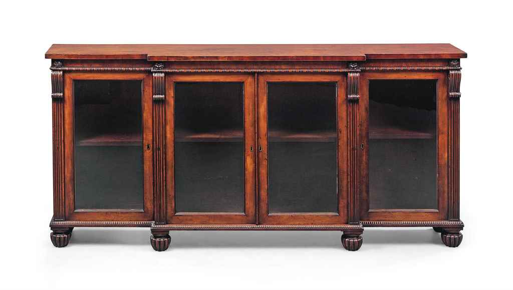 A WILLIAM IV MAHOGANY BREAKFRO