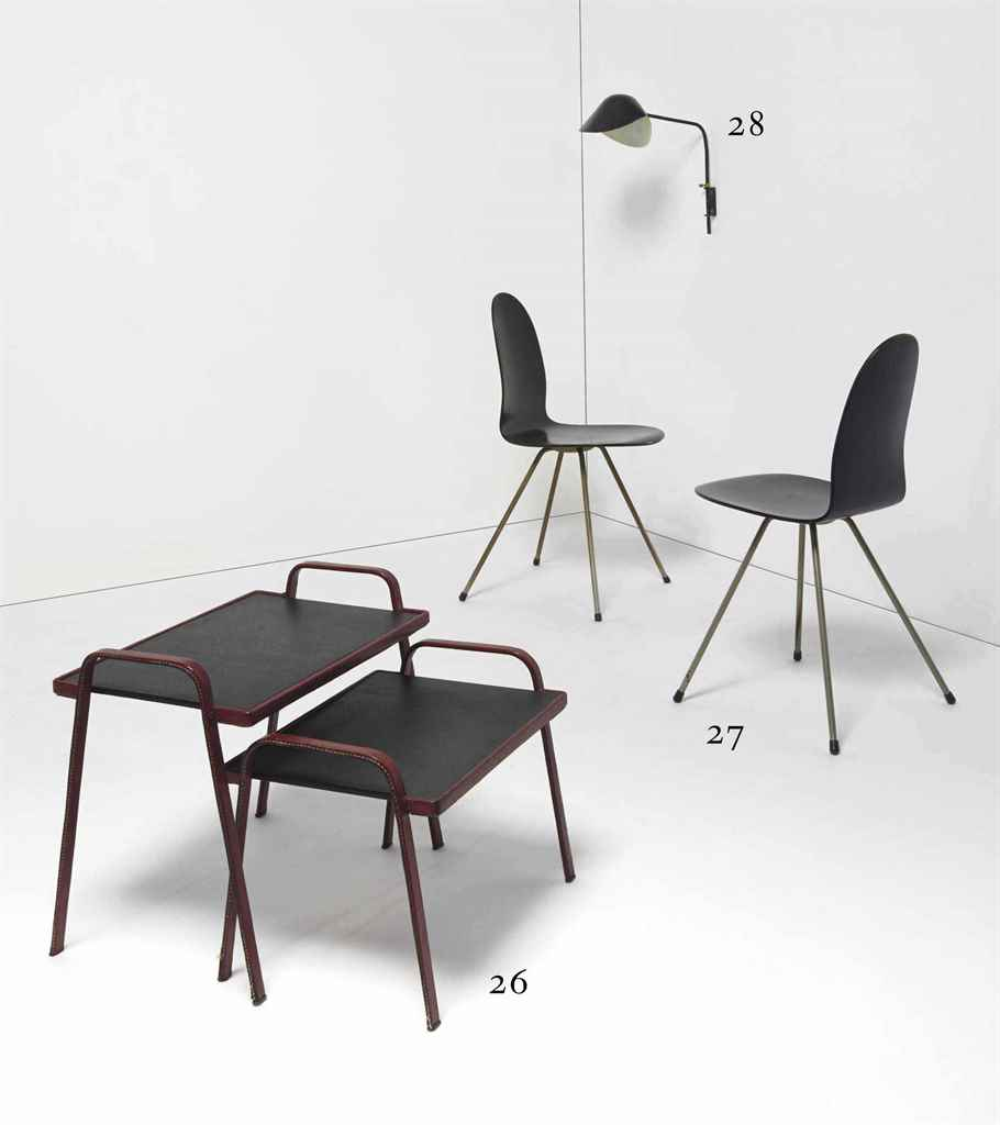 Jacques adnet 1900 1984 deux tables gigognes vers 1950 - Tables gigognes fly ...