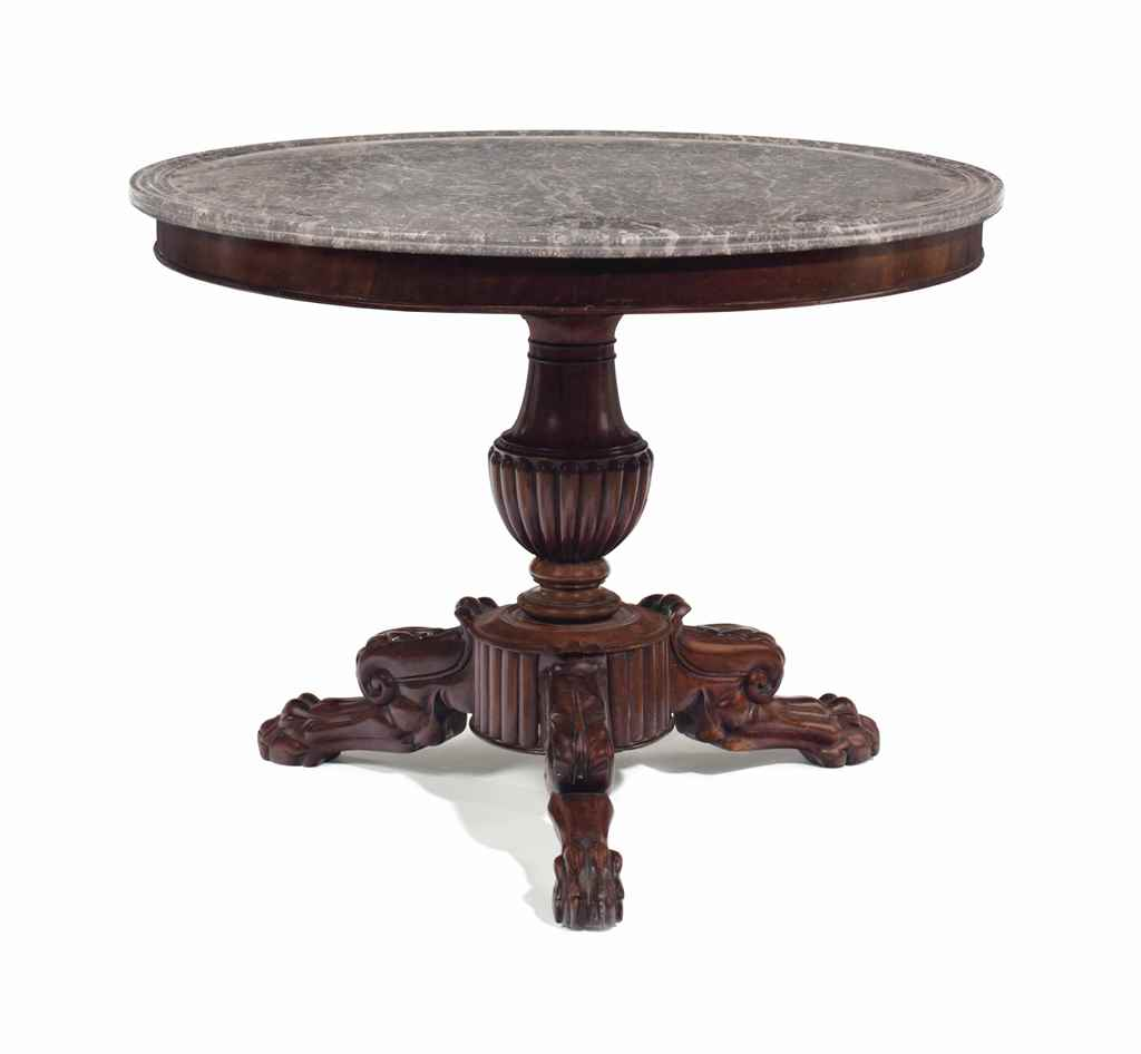 A louis philippe mahogany center table circa 1830 for Table ronde louis philippe