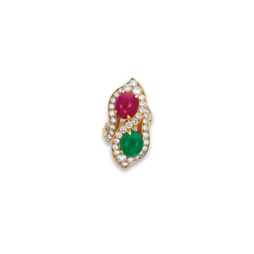 a ruby emerald and ring by bulgari christie s