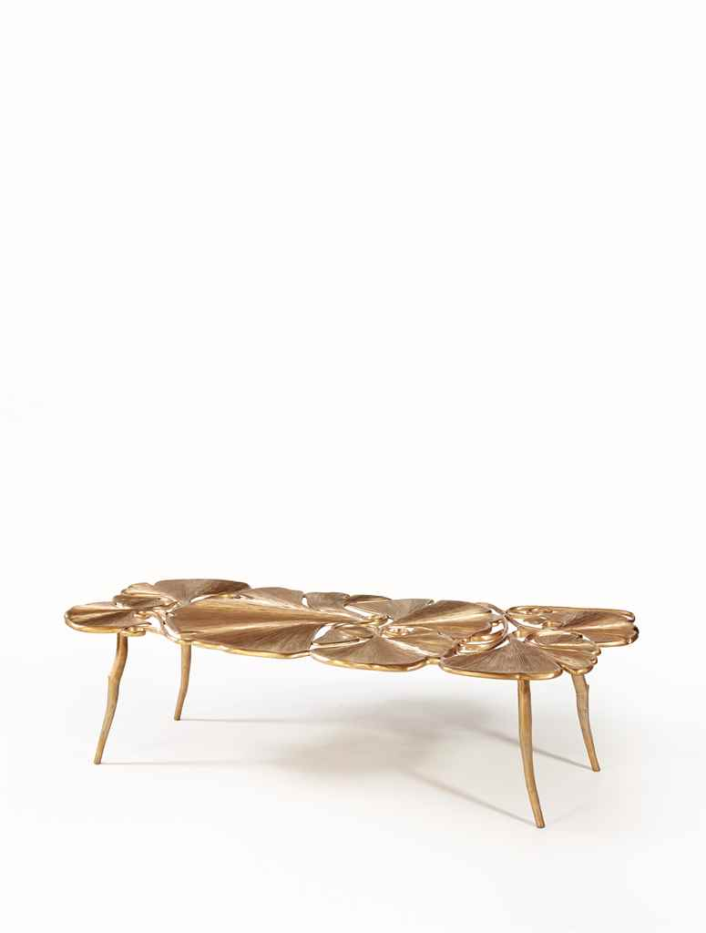Claude lalanne n e en 1925 table basse gingko grand mod le 2011 christ - Table basse grande dimension ...