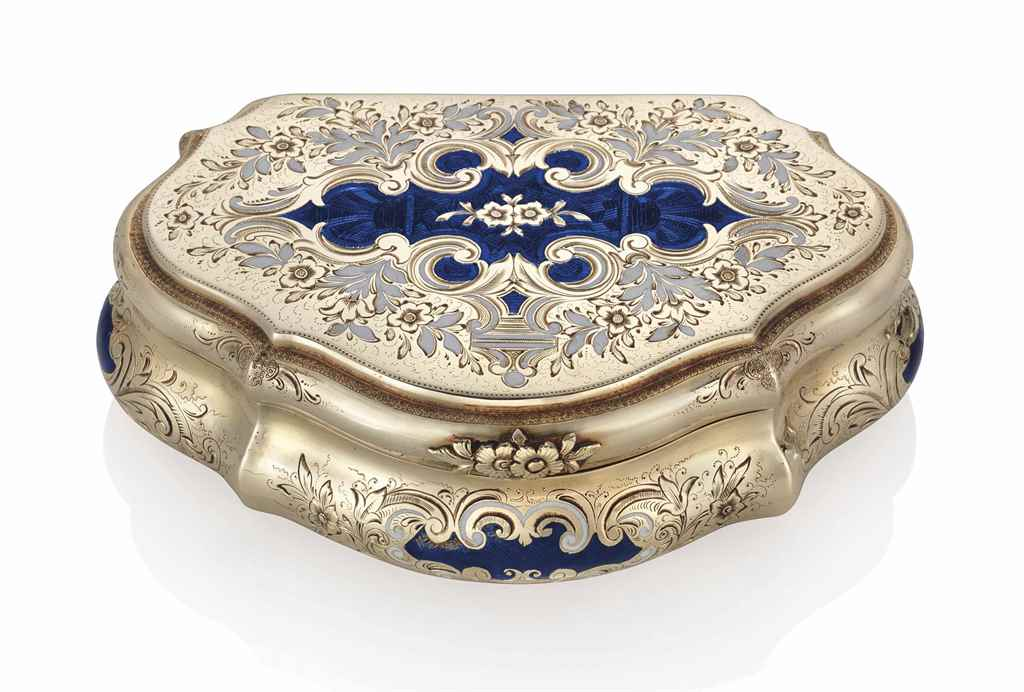 a german enamelled gold snuff box in the style of carl martin weishaupt s hne fl from 1837. Black Bedroom Furniture Sets. Home Design Ideas