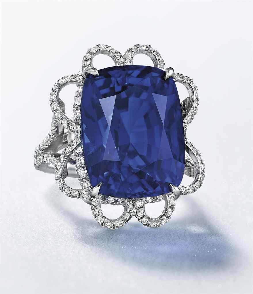 A SUPERB SAPPHIRE AND DIAMOND