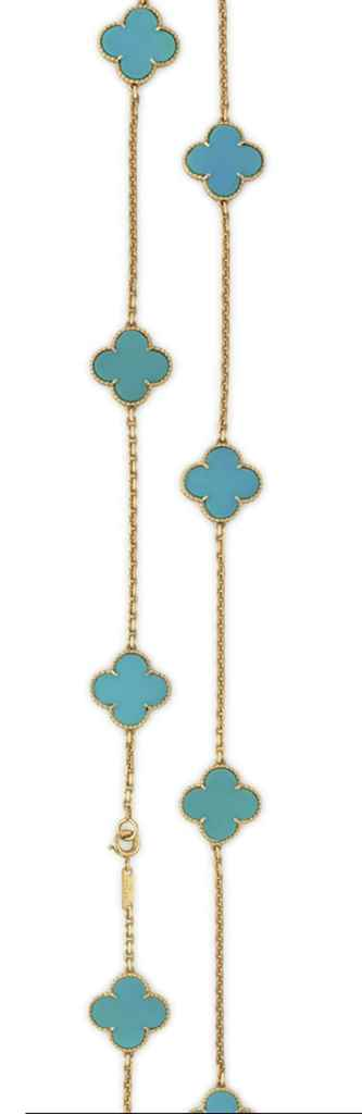 A TURQUOISE 'ALHAMBRA' NECKLAC