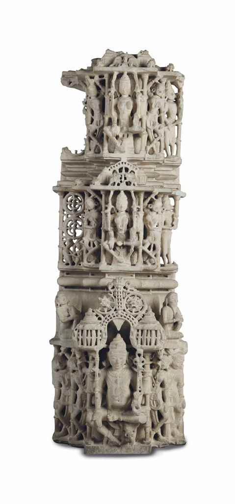 A Marble Pillar with Deities