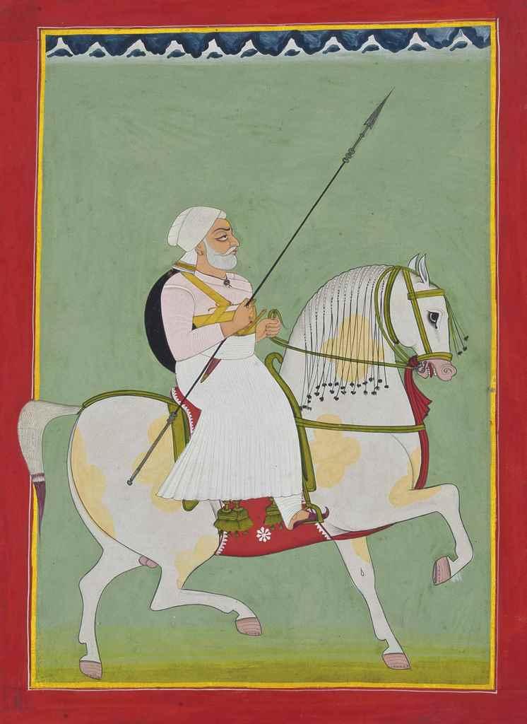 An Equestrian Portrait of Durg