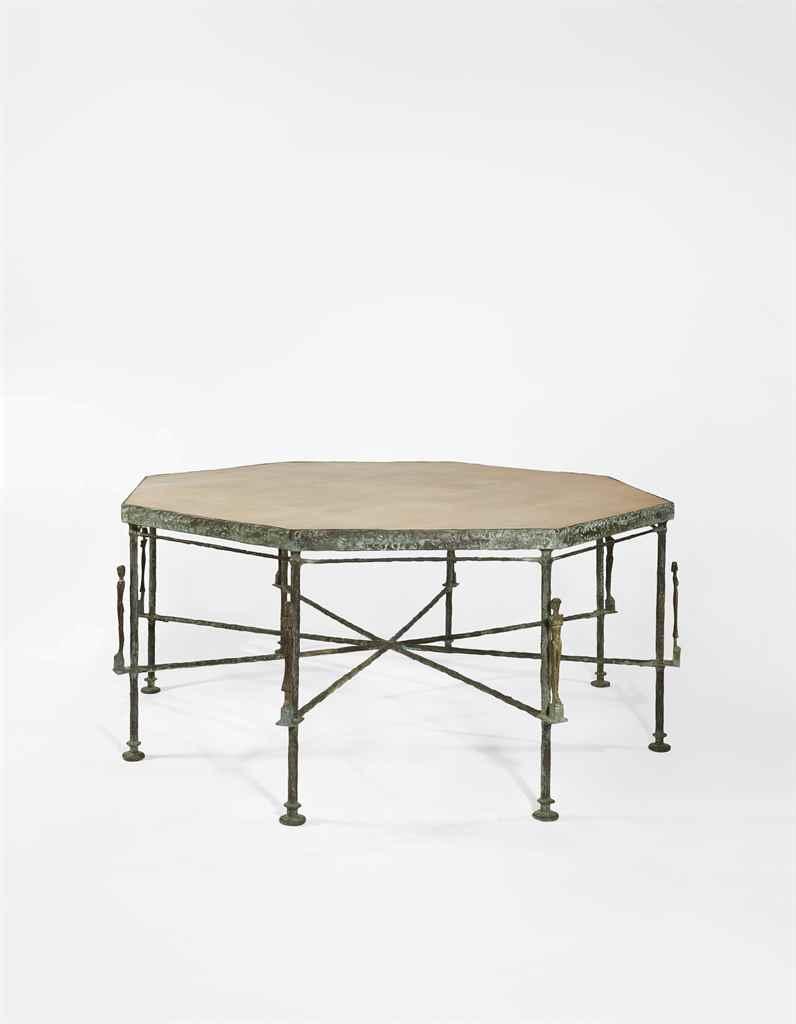 diego giacometti 1902 1985 grande table octogonale aux. Black Bedroom Furniture Sets. Home Design Ideas