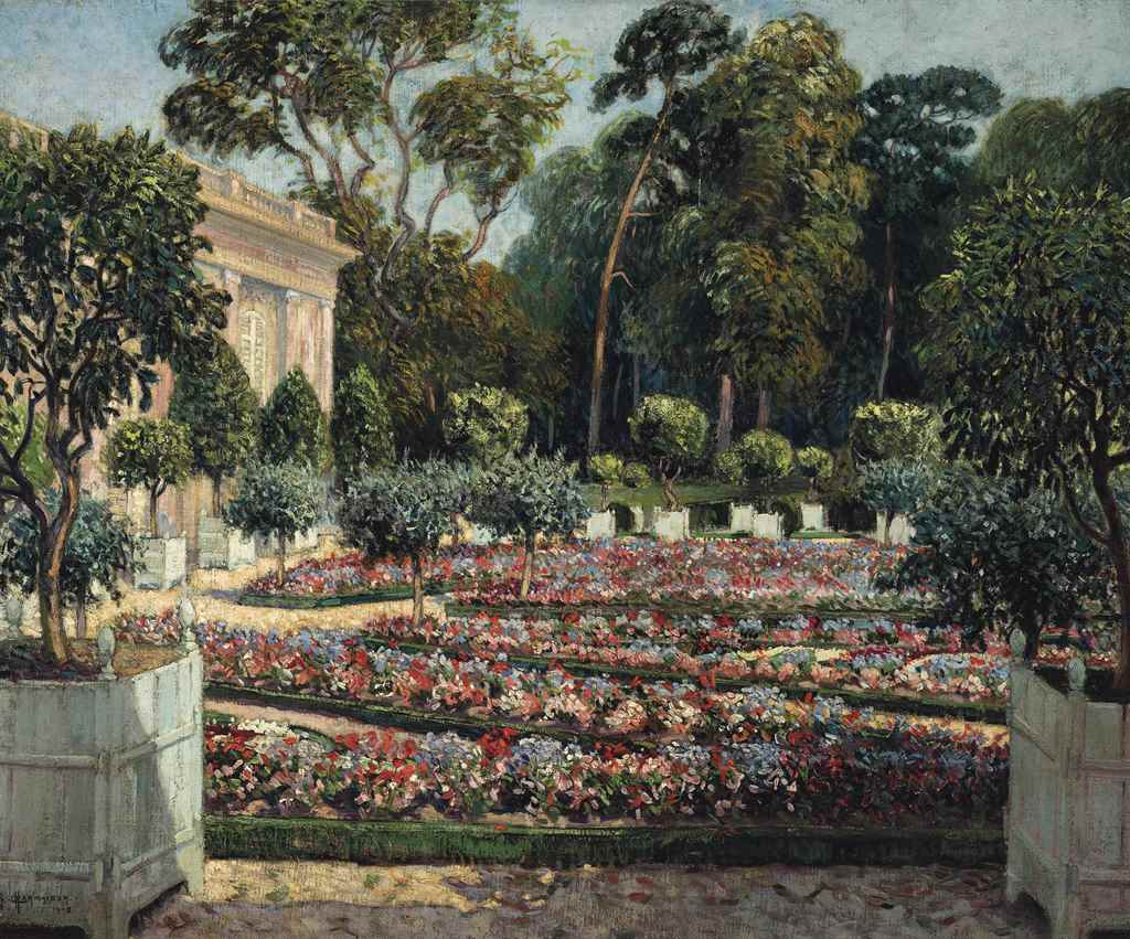 Raymond louis charmaison french 1876 1955 les jardins for Bagatelle jardin
