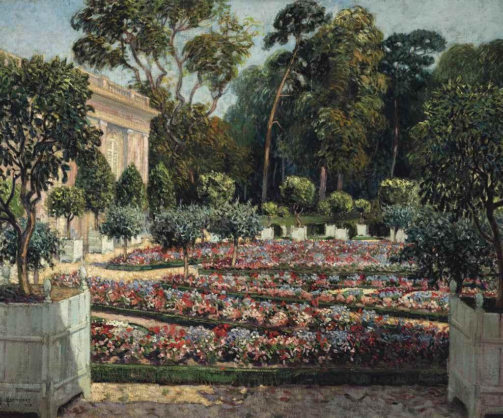 Raymond louis charmaison french 1876 1955 les jardins for Bagatelle jardin