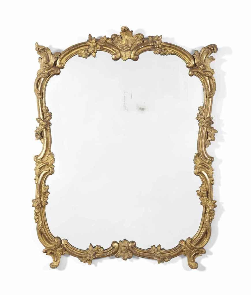 Miroir en partie d 39 epoque louis xv en partie du milieu for Miroir louis xv