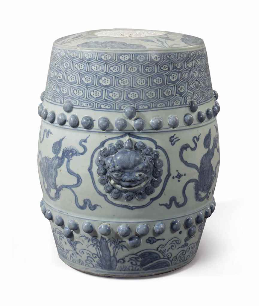 A Blue And White Garden Stool Ming Dynasty Zhengde