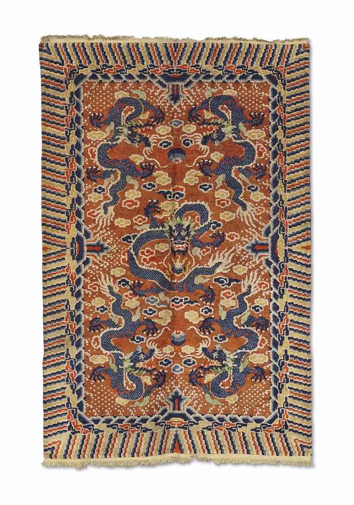 A Silk Chinese Dragon Carpet Circa 1900 Christie S
