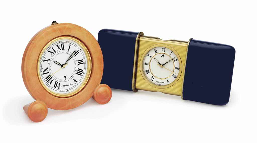 Two Small Clocks By Verdura Christie S